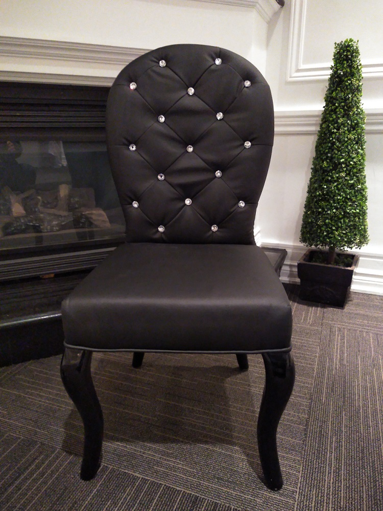 Black Bride and Groom Chair