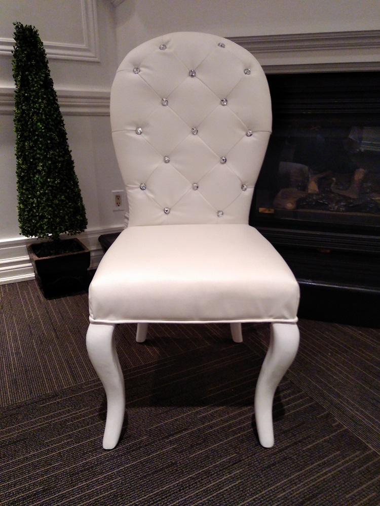 White Bride and Groom Chair